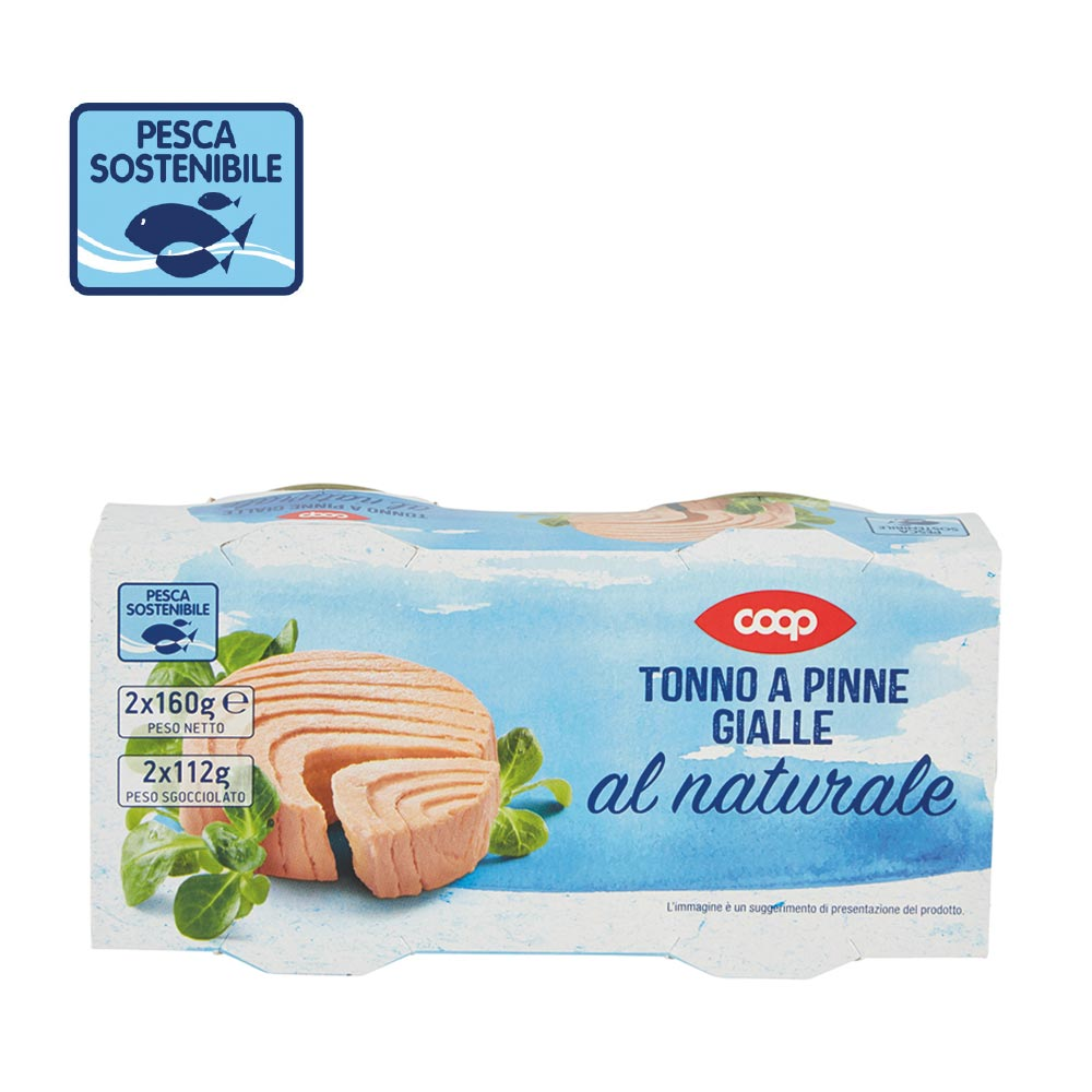 TONNO A PINNE GIALLE AL NATURALE COOP